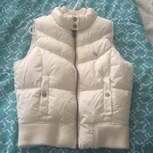 Old Navy white puffer vest